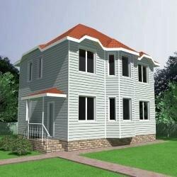 Проект индивидуального загородного жилого дома из клееного бруса