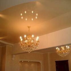 Фото отделки освещения потолка