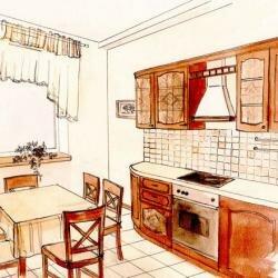 Дизайна интерьеров - акварельная графика
