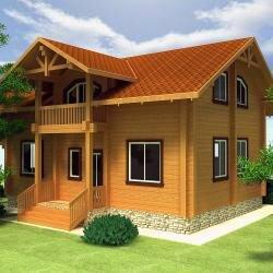 Проект дома из клееного бруса
