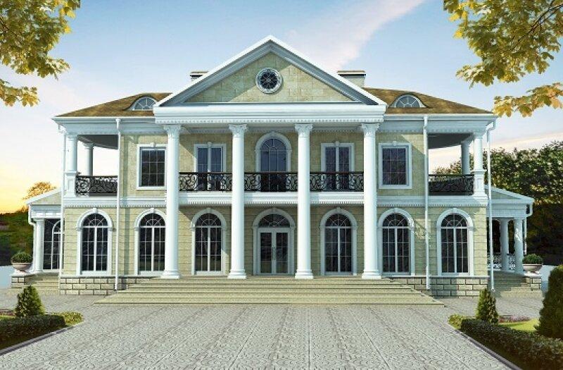 Дизайн фасада дома в стиле Ар-Деко (Art deco)