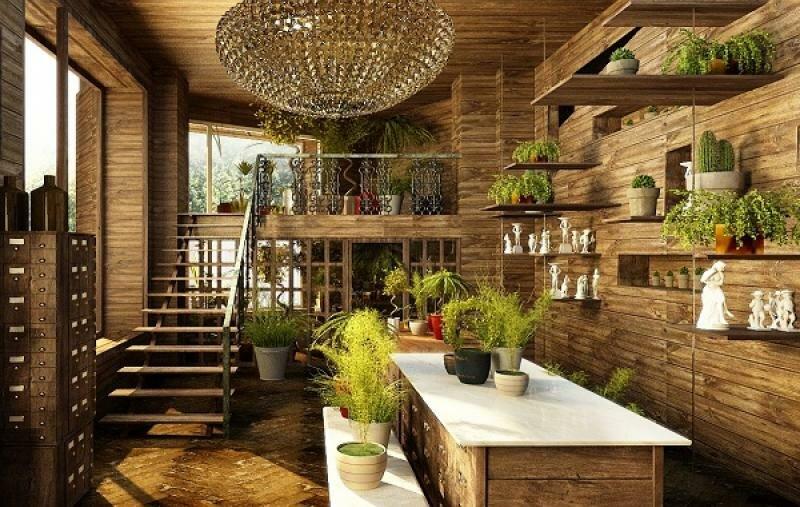 Дизайн интерьера бутика цветов