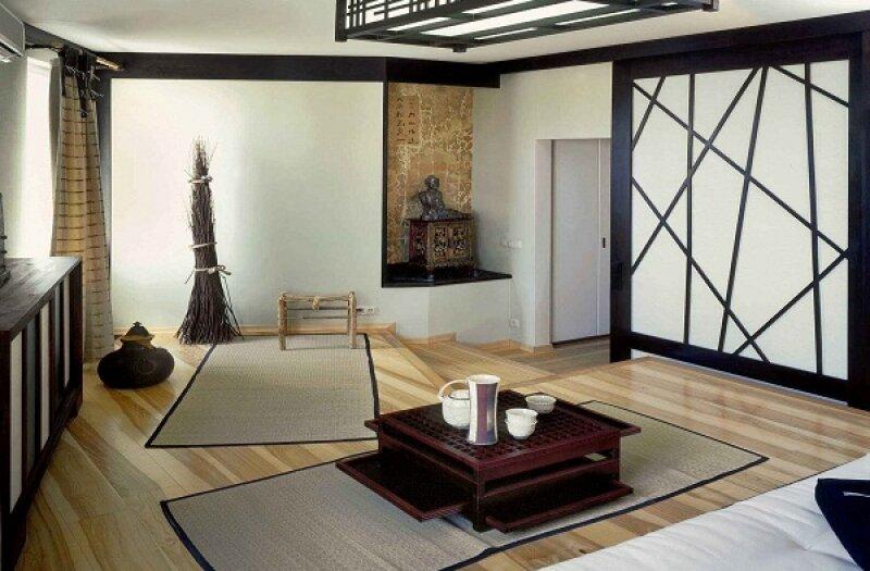 Дизайн чайной в японском стиле