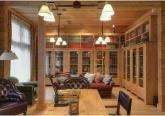 Дизайн интерьера деревянного особняка - фото