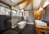 Интерьер ванной в стиле Ранчо на берегу моря