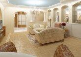 Гостиная в классическом стиле в 3-комнатной квартире
