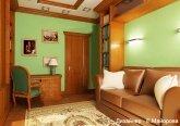 Кабинет в классическом стиле в 3-комнатной квартире