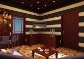 Дизайн курительной комнаты в коттедже