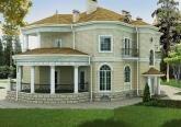 Проект фасада дома в стиле Ар-Деко (Art deco)