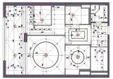 План потолка с привязкой светильников
