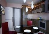 Дизайн кухни 3-х комнатной квартиры п 44-Т