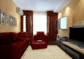 Дизайн гостиной в 3-х комнатной квартире дома серии П 44-Т