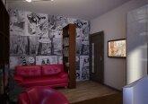 Интерьер квартиры в стиле поп-арт