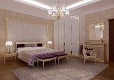 Гостевая спальня в квартире в классическом стиле
