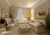 Зал в квартире в классическом стиле